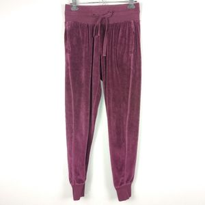 Z By Zella Wine Velour Jogger Lounge Pants